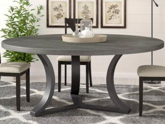 Dakota Designs Vegas Oval Extension Set Stone Round Dining Table in Delhi