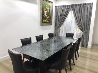 Dark Granite 8 Seat Marble Dining Table Manufacturers in Surat