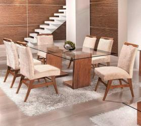 Designer glass top dining table Manufacturers in Ahmedabad