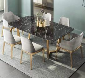 Dining room gold finish dining table Manufacturers in Amravati