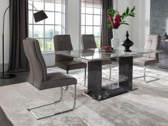 Donatella 120cm Grey Marble Dining Table Manufacturers in Ahmedabad