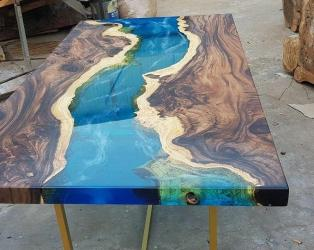 Epoxy Dining Table top design Manufacturers in Aligarh