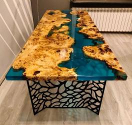 Epoxy dining Table Top Manufacturers in Aligarh