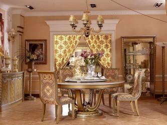 Exclusive Gold Finish Royal Dining Table Manufacturers in Cuttack