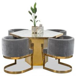 Gold Finish Round Dining Table Manufacturers in Akola