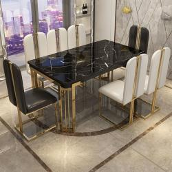 Gold finish  dining table  4 Chair + 1 bench Manufacturers in Amravati