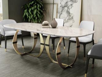 Gold finish  steel Dining Room Set Home Furniture Manufacturers in Amravati