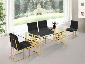 Gold finish luxury metal dining table 6 Seatar Manufacturers in Agra