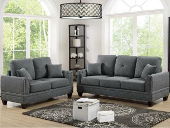 Grey colour fabric sofa set Manufacturers in Amravati