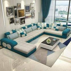 L shape sofa set Latest Modern Design Sofa with premium fabric living room furniture for Sofa Manufacturers in Varanasi