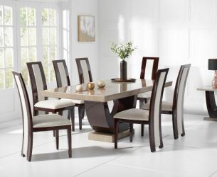 Latest design marble dining table 7 seater Manufacturers in Akola