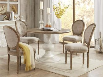 Lexi Dining Table Reclaimed WalnutAntique Cream Manufacturers in Gwalior