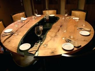 Live Edge Round Epoxy Dining Table Manufacturers in Gurgaon