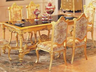 Luxury dining table set dining table with 6 chairs wooden dining Manufacturers in Indore