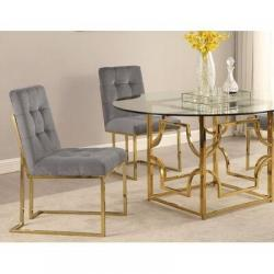 Metal glass dining table Manufacturers in Ahmedabad