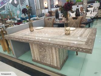 Modern Corner Marble Dining Set in Delhi