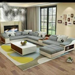 Modern U Shaped Sofa Set 9 Seatar Manufacturers in Durgapur