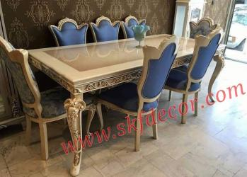 Modern dining table stylish new design with cream colour Manufacturers in Ambala