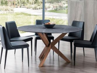 Orion Timber and Stone Round Dining Table Manufacturers in Bhopal