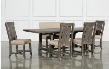 Rectangle Extension Dining Set W Bench Wood Chairs Manufacturers in Ajmer