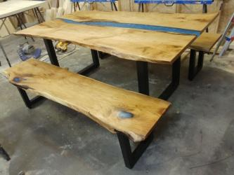 River Epoxy Dining Table Manufacturers in Gurgaon
