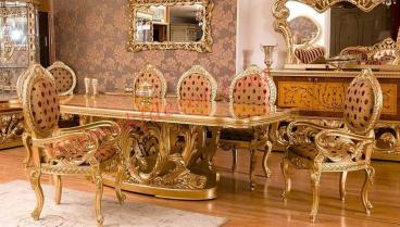 Royal Dining Table gold finish Manufacturers in Ajmer