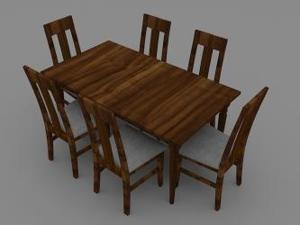 Six Seated Wooden Dining Table Manufacturers in Assam