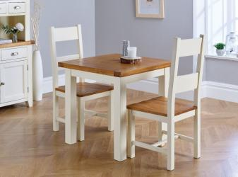 Small Cream Painted Square  Dining Table Manufacturers in Punjab