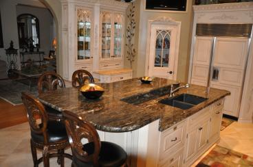 Solarious granite counter top with Ogee edge Dining table Manufacturers in Greater Noida