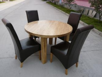 Solid Oak oval 120cm round Dining Table Manufacturers in Jalna