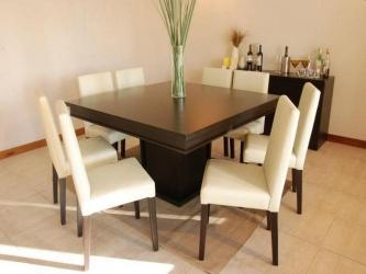 Square teak wood 8 Seater Dining Table Manufacturers in Amaravati