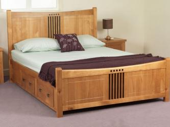 Stylish Wooden King Size Bed Manufacturers in Varanasi