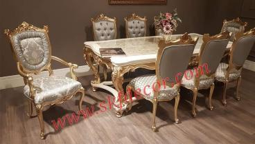 Ultra Royal dining table with Onyx marble top Manufacturers in Ambala