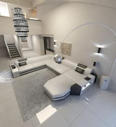 White designer  U safe sofa set Manufacturers in Durgapur