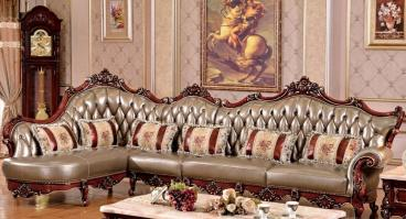 Wooden Carved Royal Sofa Set Classic Manufacturers in Karnal
