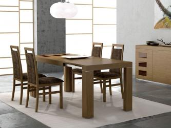 Wooden Dining Set Mesmerizing Wooden Dining Room Interior Set With Modern Chairs Manufacturers in Bhopal