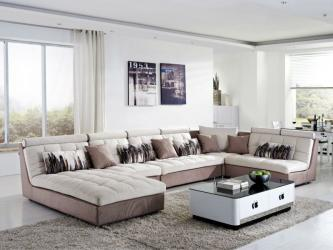 Wooden Fabric U Shaped Sectional Sofas Manufacturers in Agra